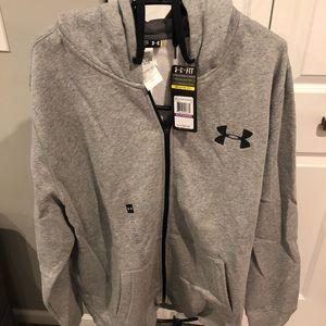 Under Armour full zip hooded sweatshirt XXL - NWT